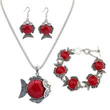 欧美时尚金鱼套装(红色)