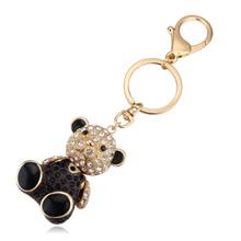 进口水晶钥匙扣--娃娃熊(香槟金+黑色)