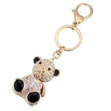 进口水晶钥匙扣--娃娃熊(香槟金+白色)