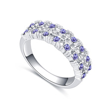 进口水晶戒指--点点滴滴(藕荷紫)