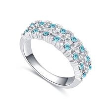 进口水晶戒指--点点滴滴(海蓝)