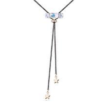 奥地利水晶毛衣链--星宿海(金色)