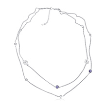 进口水晶毛衣链--芳华如梦(藕荷紫)