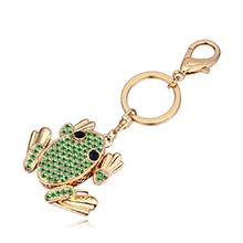 进口水晶钥匙扣--青蛙王子(橄榄)