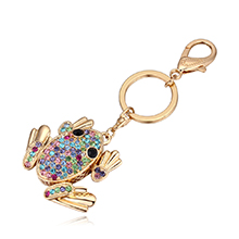进口水晶钥匙扣--青蛙王子(彩色)