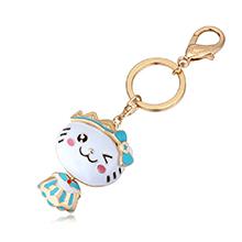 镀真金钥匙扣--可爱Kitty猫