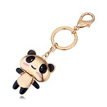 镇真金钥匙扣--可爱熊猫