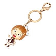 镀真金钥匙扣--可爱女孩