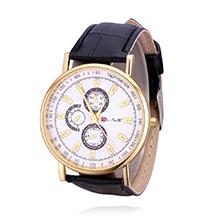 韩版时尚潮流皮带石英手表(黑色)