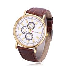 韩版时尚潮流皮带石英手表(棕色)