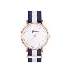 韩版简约时尚休闲帆布带手表(白色)