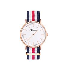 韩版简约时尚休闲帆布带手表(彩色)
