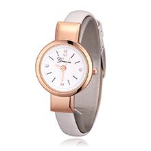 韩版简约时尚皮带女士手表(白色)