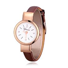 韩版简约时尚皮带女士手表(咖啡)