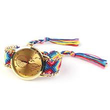 韩版潮流时尚毛线编织石英手表(宝蓝)