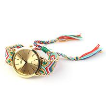 韩版潮流时尚毛线编织石英手表(彩色)