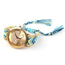 韩版潮流时尚毛线编织石英手表(天蓝