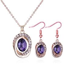 韩版气质时尚圆形套装(紫色)