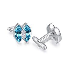 奥地利水晶袖扣--耀眼星芒(海蓝)