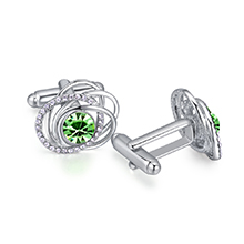 奥地利水晶袖扣--蔓舞(橄榄)