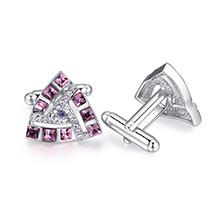 奥地利水晶袖扣--唯爱三角(紫罗兰)