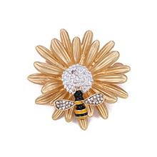 欧美时尚简约花朵蜜蜂胸针