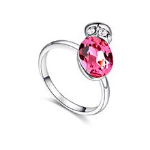 奥地利水晶戒指--浪漫之壶(玫红)