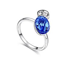 奥地利水晶项链--浪漫之壶(蓝色)