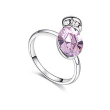 奥地利水晶戒指--浪漫之壶(淡紫)