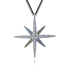 镀真金毛衣链--八角流星(白色幻彩+海蓝+橄榄)