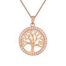 镀真金项链--幸运之树(玫瑰金)