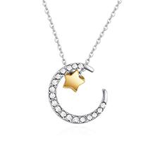 镀真金项链--星月交辉(白色)