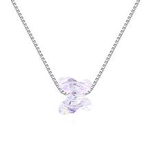 水晶项链--蝴蝶之梦(彩白)