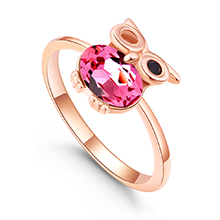 水晶戒指--魔法飞行者(玫红)