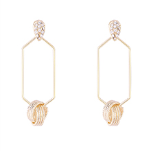 欧美镀真金时尚创意新潮S925银针耳环(14K)