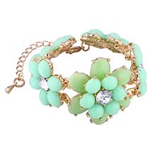 欧美时尚花朵手链(绿色)