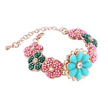 韩版小清新甜美花朵珍珠手链
