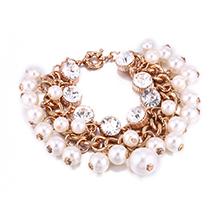 韩版珍珠水晶多层手链