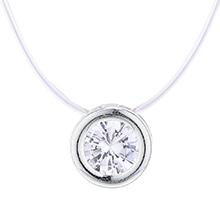 韩版时尚锆石项链(银色)