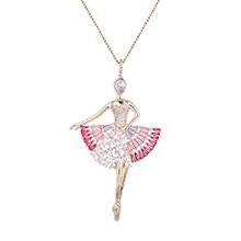 镀真金毛衣链--芭蕾女王(14K金)