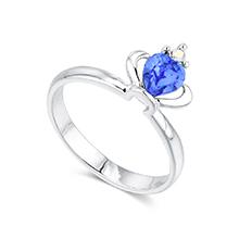 奥地利水晶戒指--皇冠(蓝色)