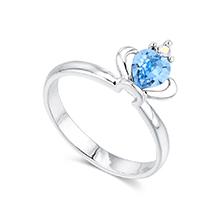 奥地利水晶戒指--皇冠(海蓝)