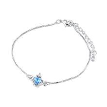 奥地利水晶手链--皇冠(海蓝)