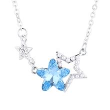 水晶项链--星星守护(海蓝)