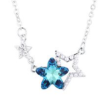 水晶项链--星星守护(蓝光)