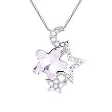 水晶项链--星月守护(白色)