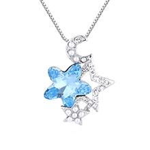 水晶项链--星月守护(海蓝)