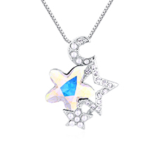 水晶项链--星月守护(彩白)