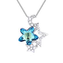 水晶项链--星月守护(蓝光)