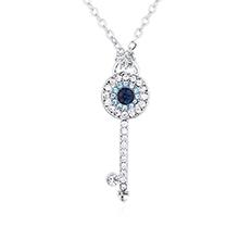 水晶项链--恶魔之眼浪漫钥匙(白金)